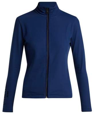 Fendi - Logo Stretch Jersey Jacket - Womens - Navy