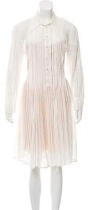 Philosophy di Lorenzo Serafini Long-Sleeve Knee-Length Dress