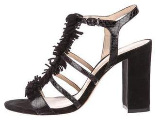 Alexandre Birman Leather Multi-Strap Sandals