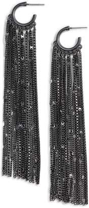 Halogen Long Chain Fringe Earrings