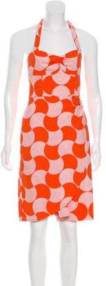 Trina Turk Printed Halter Dress w/ Tags
