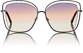 Chloé Women's Poppy Butterfly Sunglasses - 259-Havana, Grey yellow