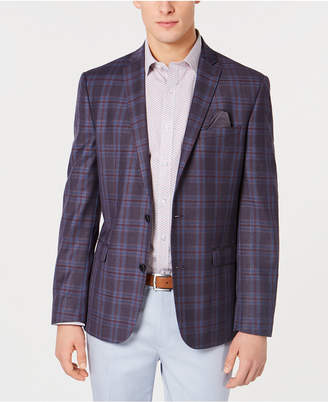 Bar III Men Slim-Fit Plaid Sport Coat