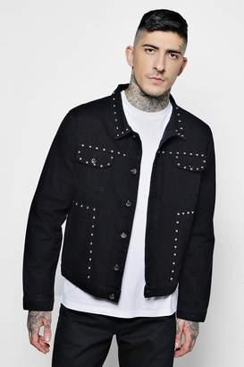 boohoo Studded Denim Western Jacket