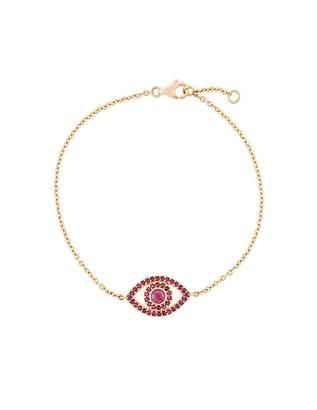 Monan ruby set Evil Eye bracelet