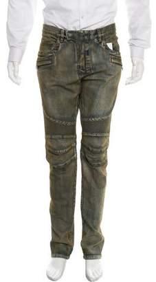 Balmain Distressed Biker Jeans w/ Tags