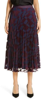 BOSS Valace Abstract Plisse Midi Skirt