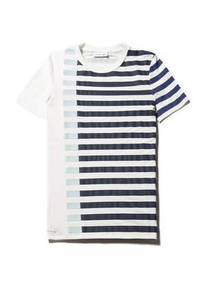 Lacoste Women's Flowing Striped Colorblock Milano Knit T-shirt