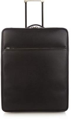 Valextra Leather Cabin Suitcase - Mens - Grey