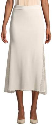 Derek Lam Women's Ribbed & Mesh Long Skirt