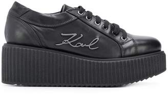 Karl Lagerfeld platform lace-up sneakers