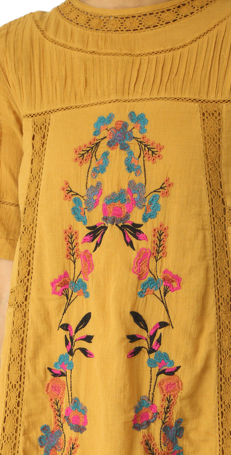 Free People Perfectly Victorian Embroidered Mini Dress 12