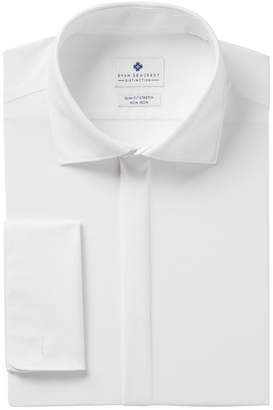 Ryan Seacrest Distinction Men's Slim-Fit Stretch Non-Iron White Covered Placket French Cuff Dress Shirt, Created for Macy's
