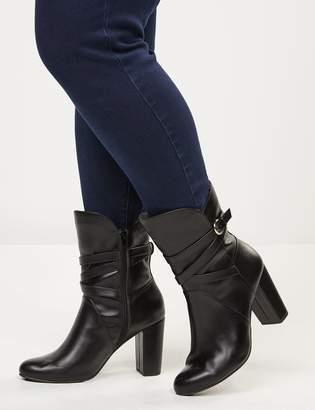 Lane Bryant Cross-Strap High Heel Boot