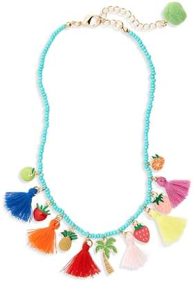 Cara Tassel & Charm Necklace