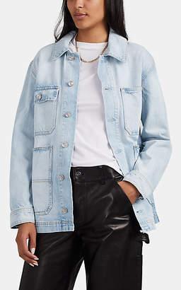 SLVRLAKE Women's Worker Oversized Distressed Denim Jacket - Blue