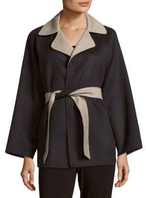 Max Mara Kaya Wool-Blend Notch-Collar Coat