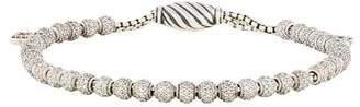 David Yurman Diamond Petite Pavé Spiritual Bead Bracelet