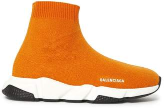 Balenciaga knitted sock sneakers orange