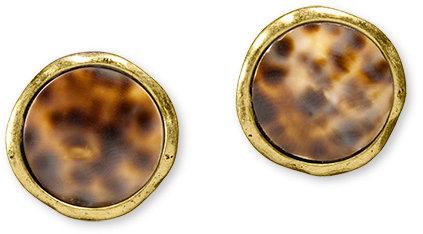 Cowry button earrings