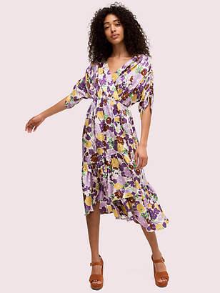 Kate Spade Swing Flora Jacquard Dress, Dark Cream - Size 0