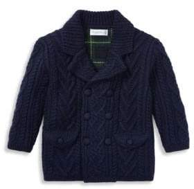 Ralph Lauren Baby Boy's Wool Cable-Knit Sweater