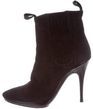 cheap cost Balenciaga Suede Round-Toe Booties discount outlet store best store to get cheap online sale real uNb5xb