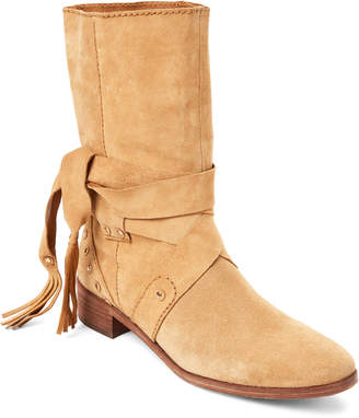 See by Chloe Medium Beige Suede Studded Boots