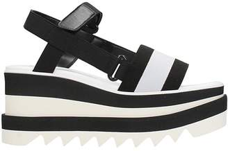 Stella McCartney Black And White Elyse Platform Slingback Sandals