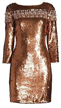 Aidan Mattox Women's Embellished Sequin Cocktail Dress - Size 0