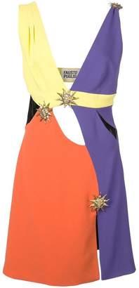 Fausto Puglisi colour block mini dress
