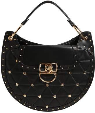 Balmain Medium Quilted Leather Bag W/ Studs