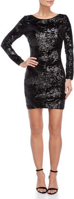 Dress the Population Black Lola Sequin Pattern Dress