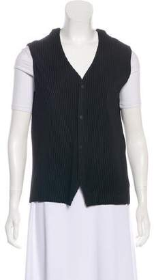 Pleats Please Issey Miyake Ruched Button-Up Vest w/ Tags