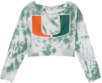 PINK University of Miami Off-The-Shoulder Banded Bottom Crop