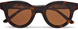 Sun Buddies Edie Round-Frame Tortoiseshell Acetate Sunglasses