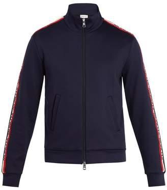 Moncler Hooded logo-stripe jersey jacket