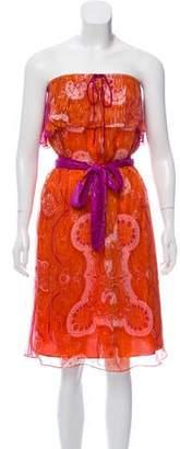 Miguelina Strapless Midi Dress