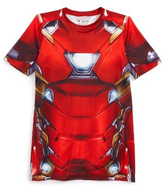 Boy's Under Armour Iron Man Heatgear Shirt $49.99 thestylecure.com