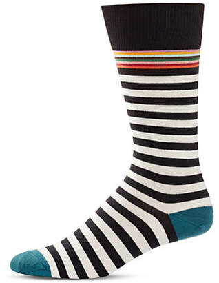 Paul Smith Two-Pack Multistriped Crew Socks