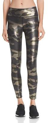 Aqua High-Rise Metallic Camo Leggings - 100% Exclusive