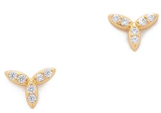 Gorjana Olympia Shimmer Mini Stud Earrings $40 thestylecure.com