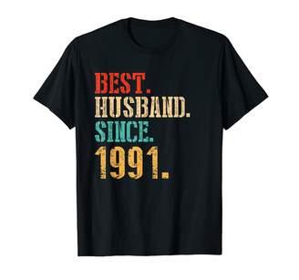 2tees T08 M17c 28th Wedding Anniversary Gifts Best Husband Since 1991 Shirt