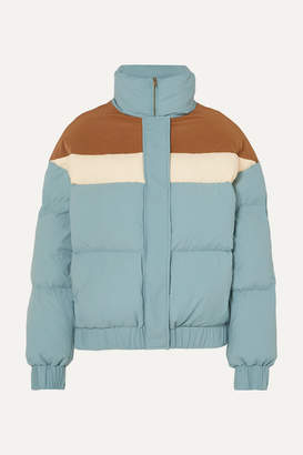REJINA PYO Otis Color-block Quilted Shell Jacket - Light blue