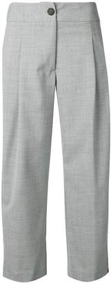 Semi-Couture Semicouture side stripe cropped trousers
