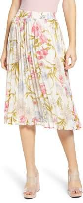 June & Hudson Floral Pleated Skirt