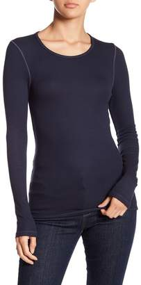Splendid Long Sleeve Ribbed Knit Tee