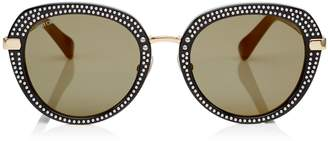 Jimmy Choo MORI Black Acetate Sunglasses with Stud Detailing
