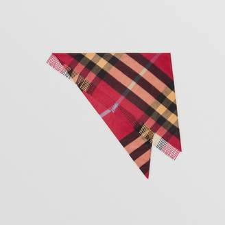 Burberry The Bandana in Check Cashmere, Red