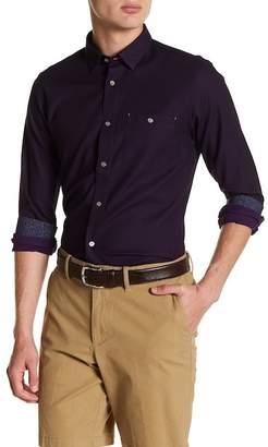 Ted Baker Nordlux Modern Slim Fit Stretch Cotton Sport Shirt